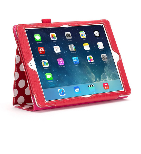Griffin Folio Back Bay Polka iPad Air Red/White