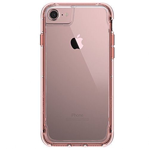 Griffin Survivor Clear for iPhone 7 in Rose Gold/Clear