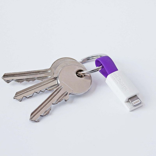 inCharge The Smallest Keyring Lightning Cable Purple