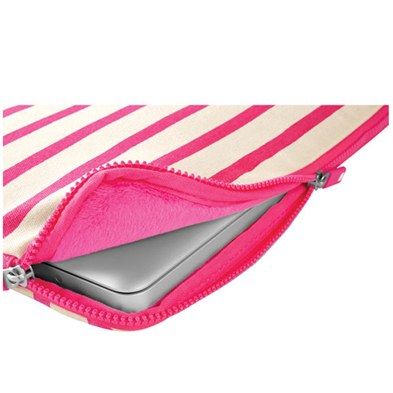 "Incase Stripe Sleeve For MacBook Air 11"" Pop Pink"
