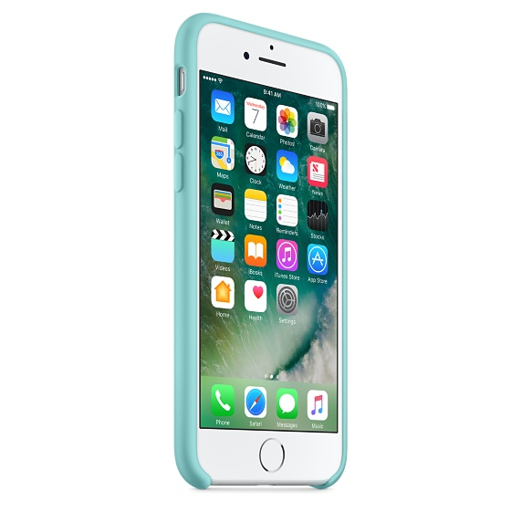 iPhone 7 Silicone Case - Sea Blue