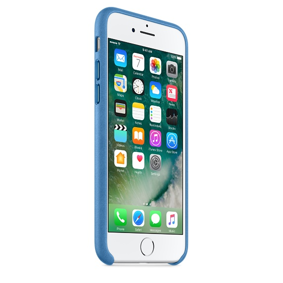 iPhone 7 Leather Case - Sea Blue