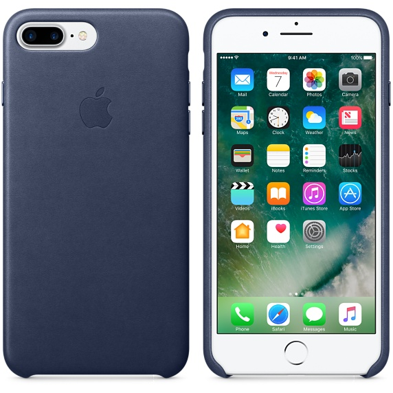 iPhone 7 Plus Leather Case - Midnight Blue