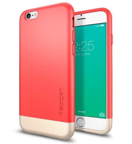 Spigen Style Armor New Sliding Design For iPhone 6s/6 Rose Gold