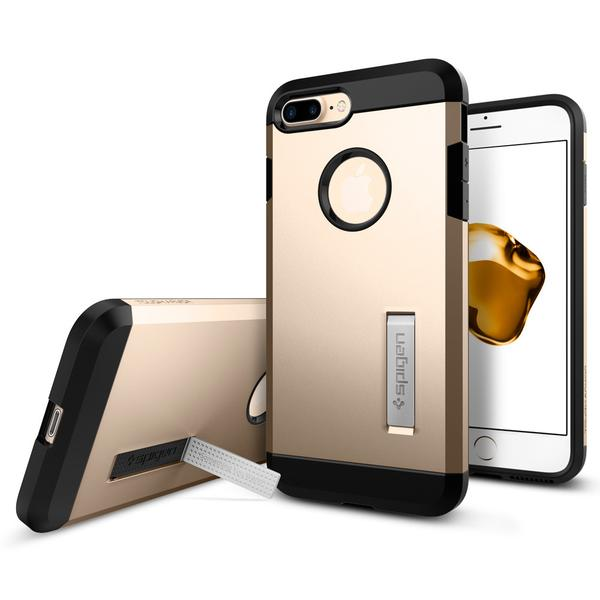 Spigen iPhone 7 Plus Case Tough Armor Champagne Gold | Tradeline Egypt Apple