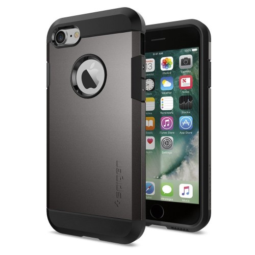 Spigen iPhone 7 Case Tough Armor Gunmetal