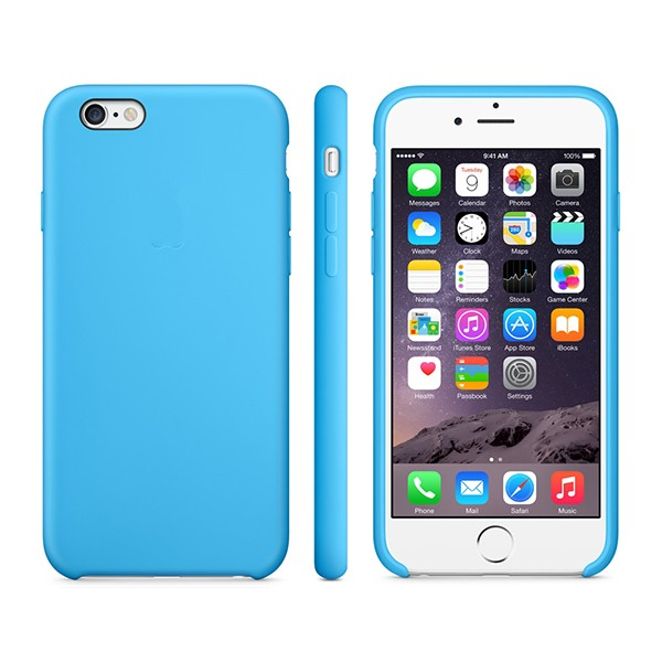 Apple iPhone 6/6s Plus Silicone Case Blue